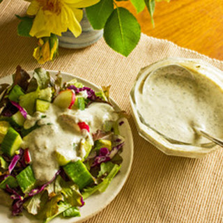 Homemade Coconut Lime Herb Salad Dressing.
