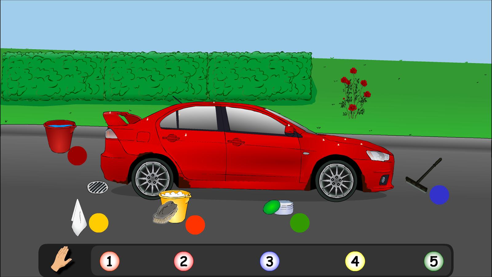car wash sport car screenshot