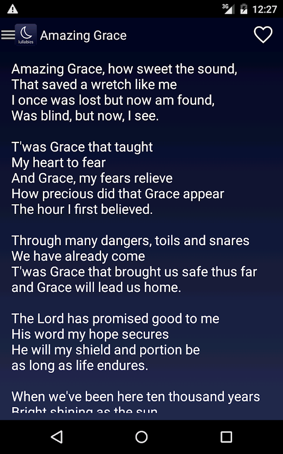 Lullaby Lyrics - Android Apps on Google Play