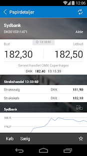 Sydbanks MobilBank - screenshot thumbnail