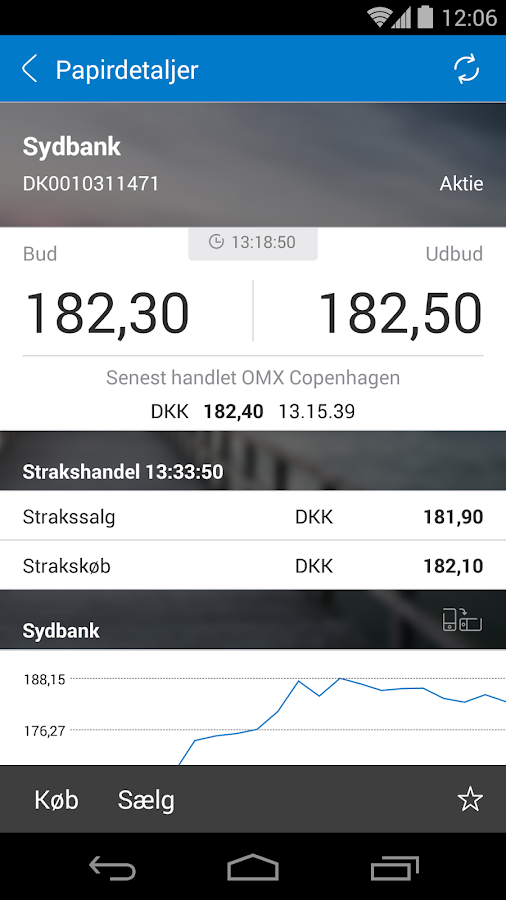 Sydbanks MobilBank - screenshot