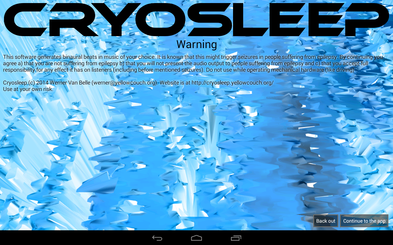Cryosleep Brainwave Generator- screenshot