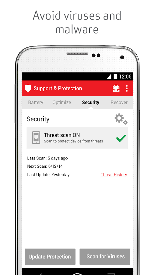 Verizon Support & Protection- screenshot