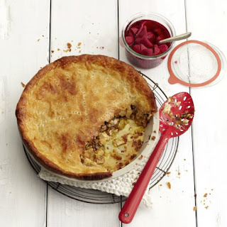 Chicken Pot Pie with Pickled Beets.