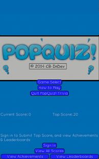 PopQuiz! Trivia Game - screenshot thumbnail