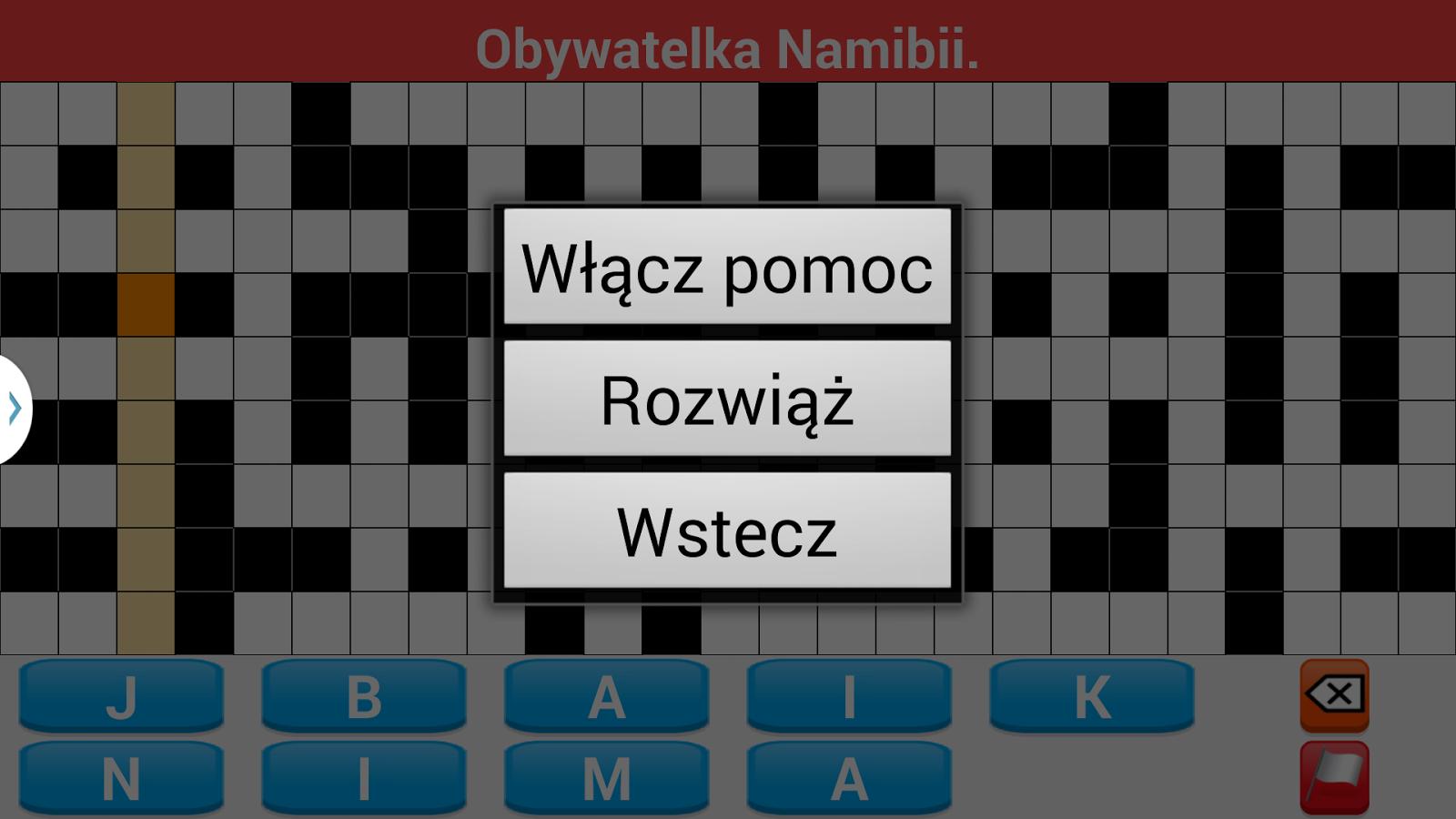 Krzyżówki po polsku- screenshot