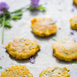 CURRIED SWEET POTATO, CORN & CHIVE FRITTERS