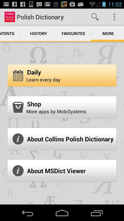 Collins Polish Dictionary - screenshot
