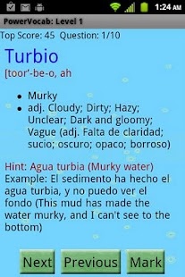 PowerVocab Spanish Words Pack - screenshot thumbnail