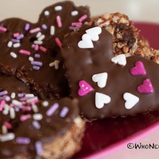 Chocolate Peppermint Rice Krispy Hearts