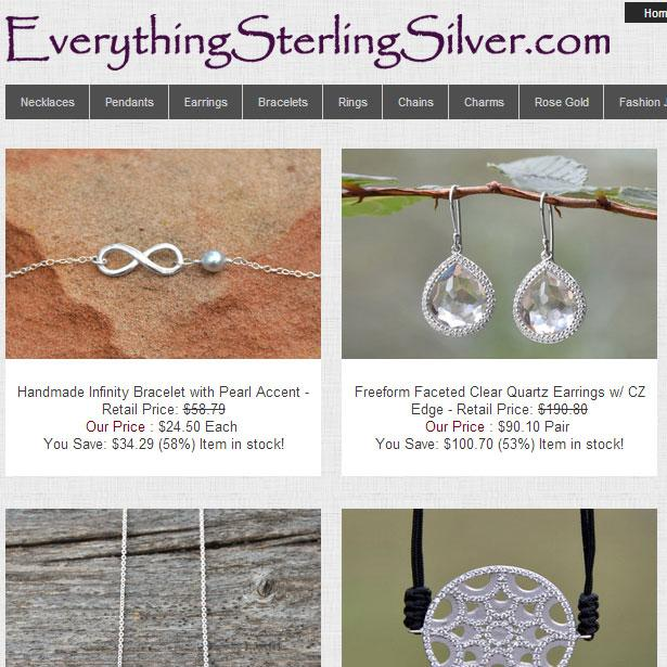 Wholesale Sterling Silver - screenshot