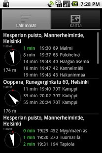 Helsinki timetables - screenshot thumbnail