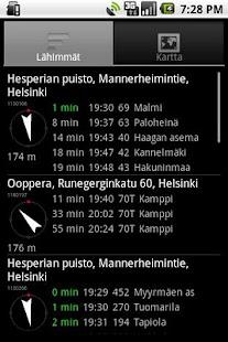 Helsinki timetables - screenshot thumbnail