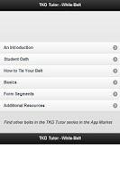 Screenshot of TKD Tutor White Belt