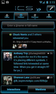ICS Blue 4 Twitter - screenshot thumbnail