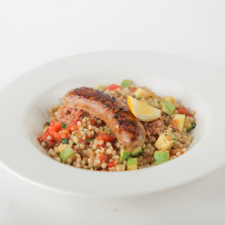Lamb Sausage with Late Summer Moroccan Couscous.