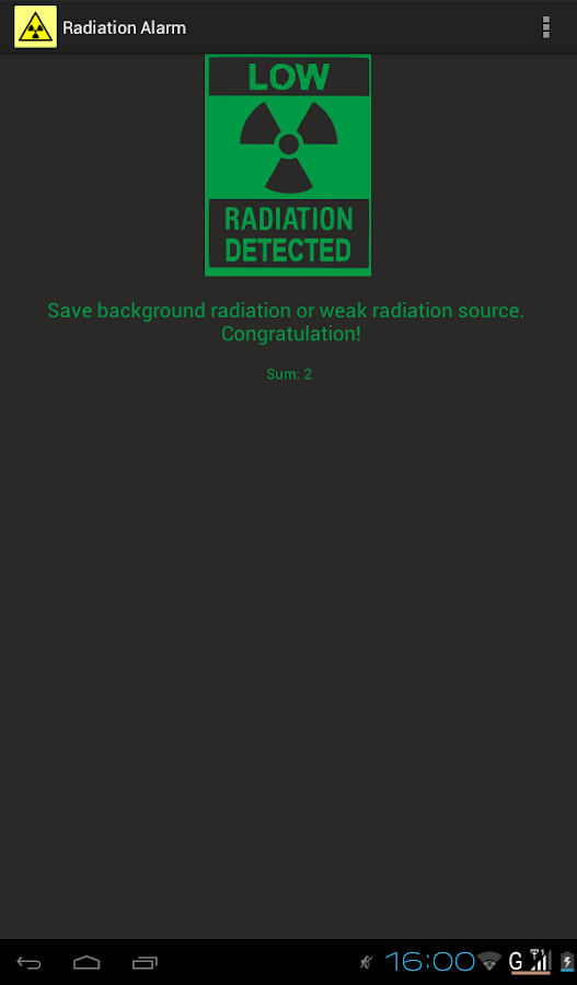 Radiation Alarm - screenshot