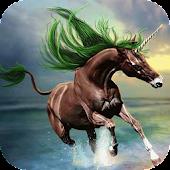 Unicorn with green mane