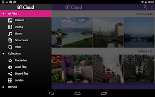 Screenshot of BT Cloud