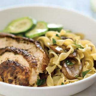 Mushroom-and-Fresh Parsley Noodles.