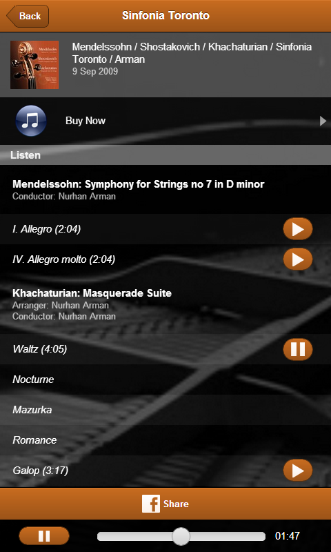 Sinfonia Toronto - screenshot