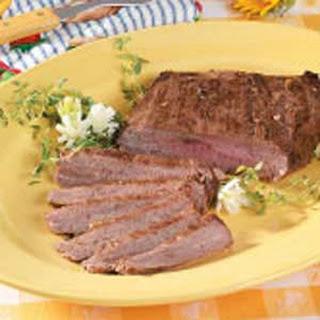 Peppered Flank Steak.