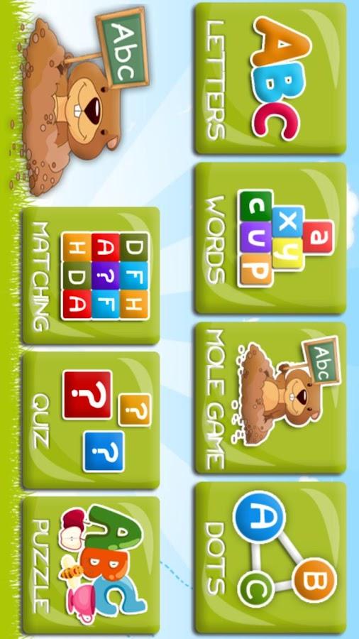 Alfabeto para crianças- screenshot