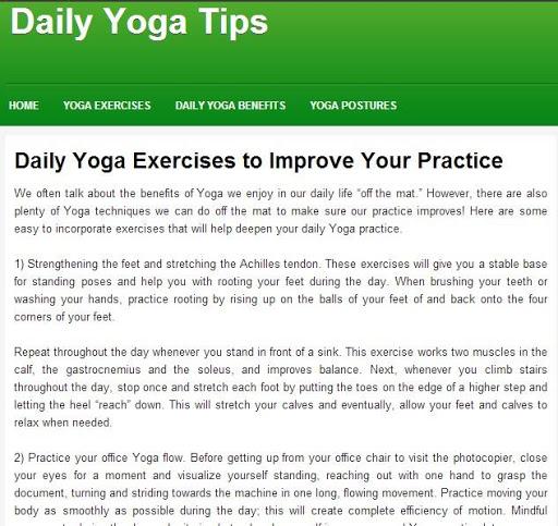 Simple Daily Yoga
