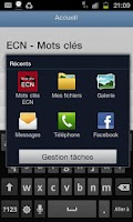 Screenshot of Mots Cles ECN