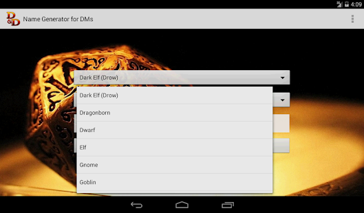 DampD Names Generator  Android Apps on Google Play