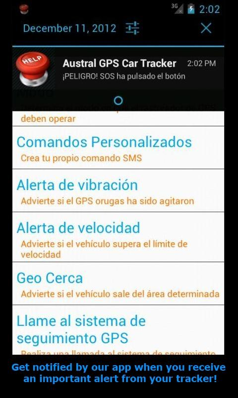 GPS Tracker Car TK SMS Free - screenshot