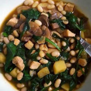 Chicken, Navy Bean, and Spinach Stew