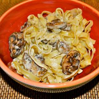 Pasta with Portobello Mushrooms.