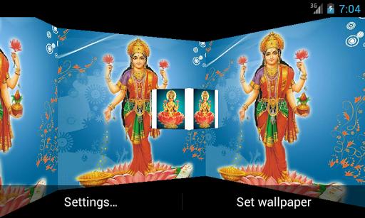 Maa Laxmi 3D Live Wallpaper