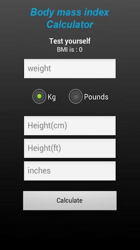 Body mass index calculator