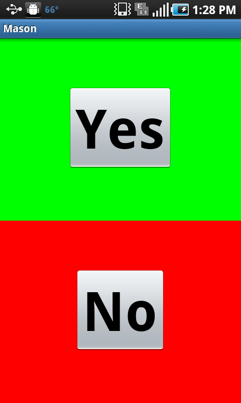 Yes/No- screenshot