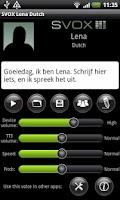Screenshot of SVOX Dutch Lena Voice