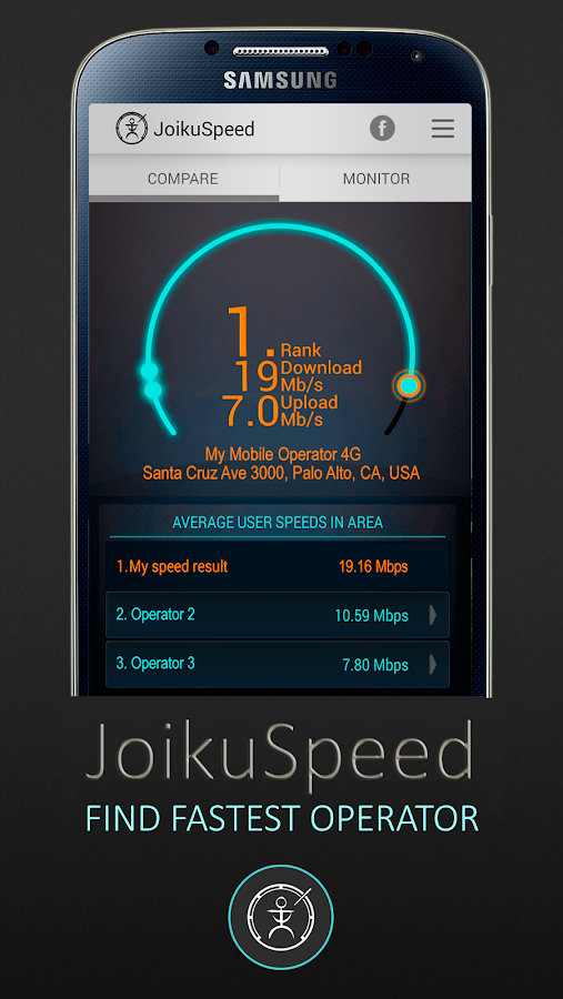 JoikuSpeed Operator Speeds - screenshot