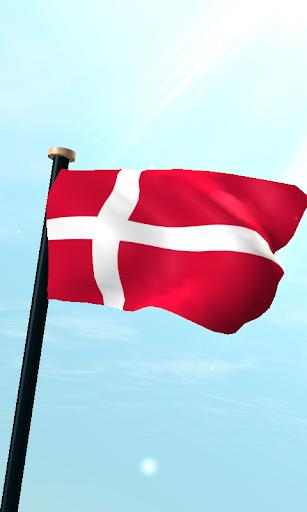 덴마크 국기 3D 무료 라이브 배경화면