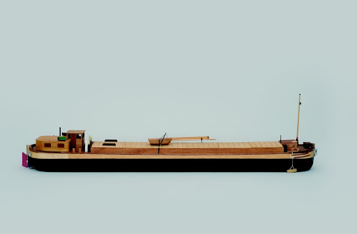 "Scale model of the ""St. Anna"" coal barge"