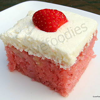 Moist Strawberry & Coconut Cake