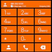 Dialer theme Cards Orange
