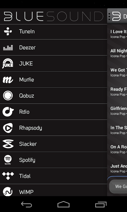Bluesound - screenshot