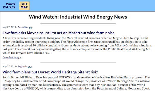 Wind Watch News- screenshot thumbnail