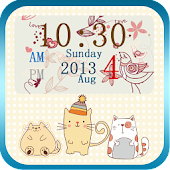 Flowers And Birds Clock Widget