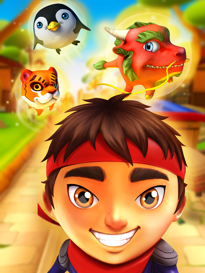Ninja Kid Run Free - Fun Games- screenshot