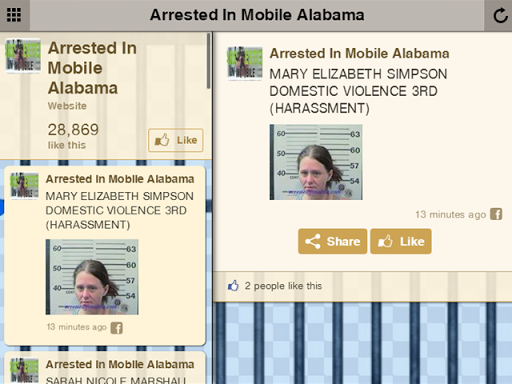 Arrested In Mobile Alabama
