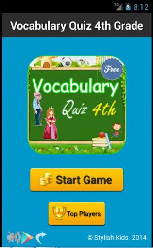 Vocabulary Quiz 4th Grade