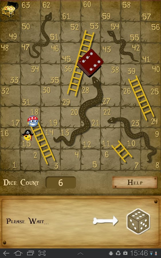 Snakes and Ladders- screenshot