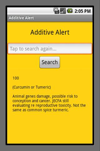 Additive Alert- screenshot